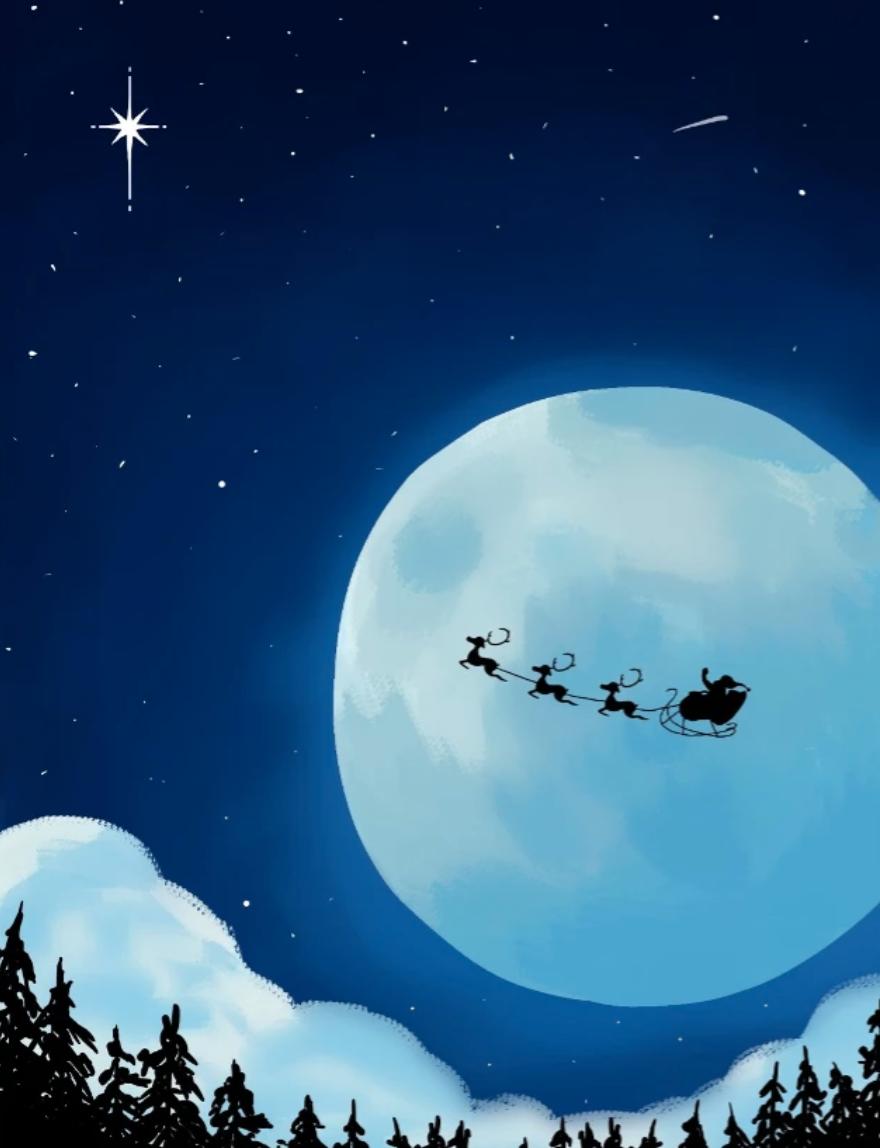 Christmas sleigh in the sky