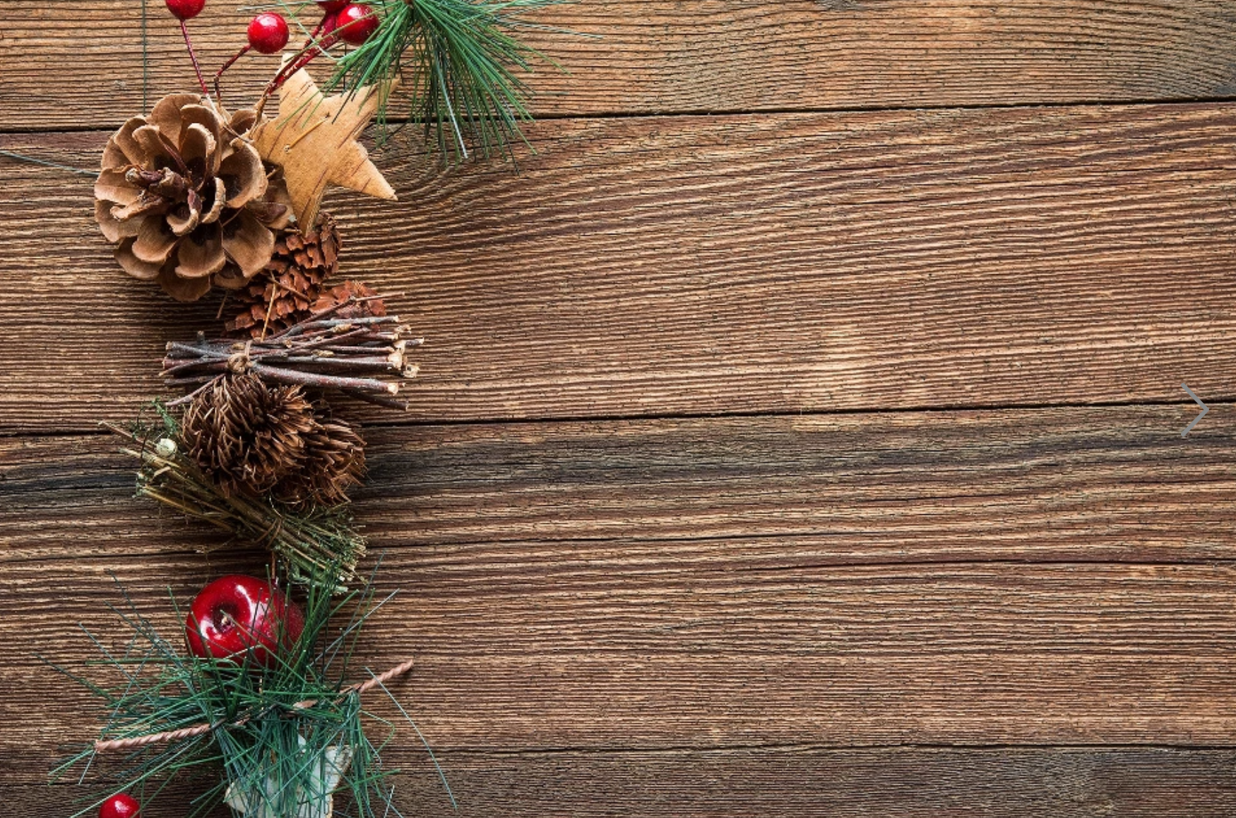 Christmas pine cones and decorations
