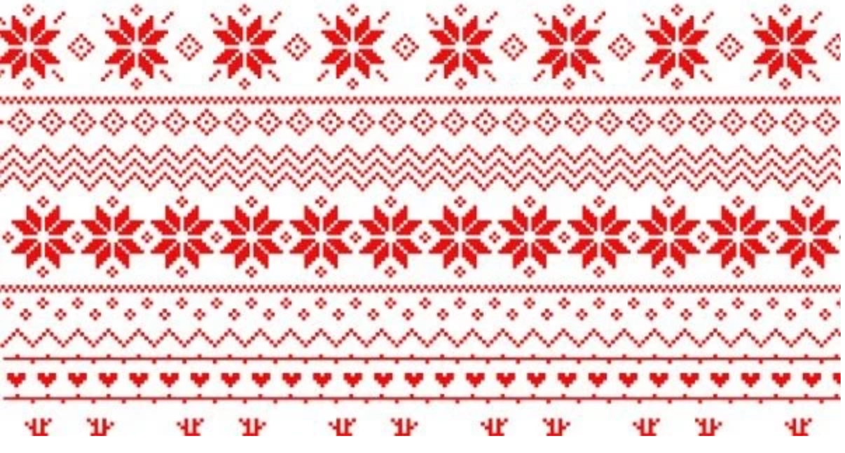 Christmas background red and white pattern