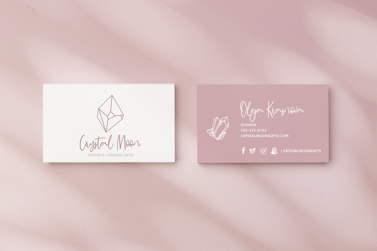 Business Card made with editing software