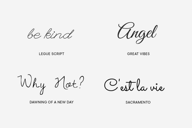Cute tattoo fonts