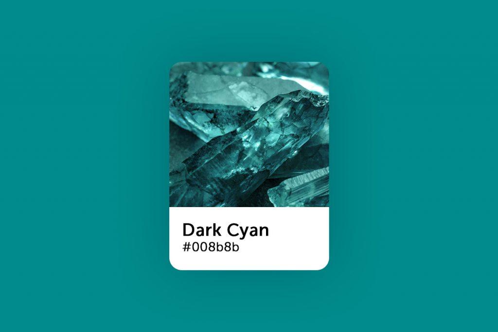 Dark cyan color code