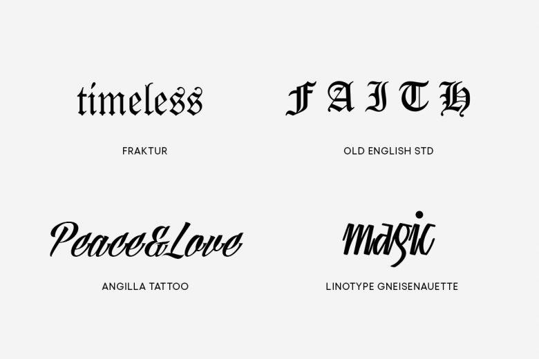 traditional tattoo fonts