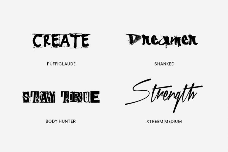 unique tattoo fonts