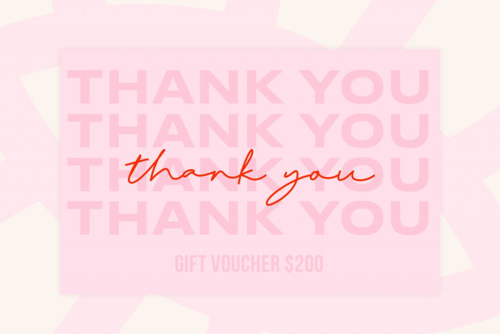 Gift card thank you