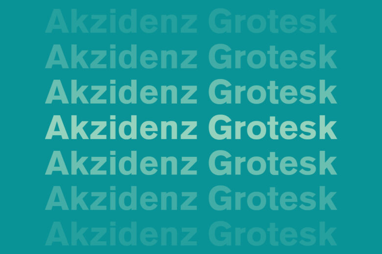 Akzidenz Grotesk font – Helvetica alternative