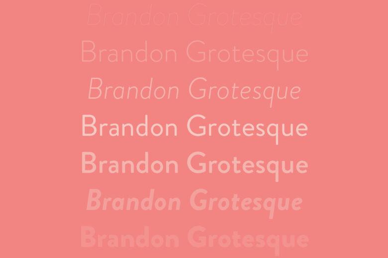 Brandon Grotesque font Helvetica alternative
