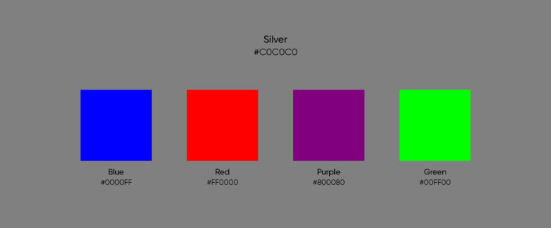 silver complementary colors