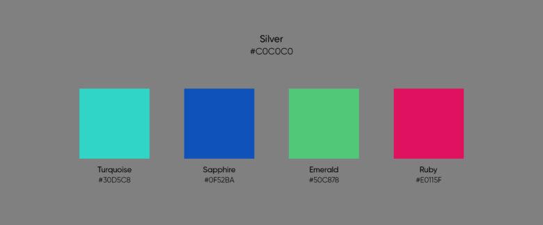 silver color jewel