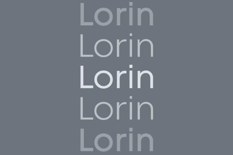 Lorin font