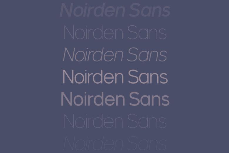 Noirden Sans font Helvetica alternative