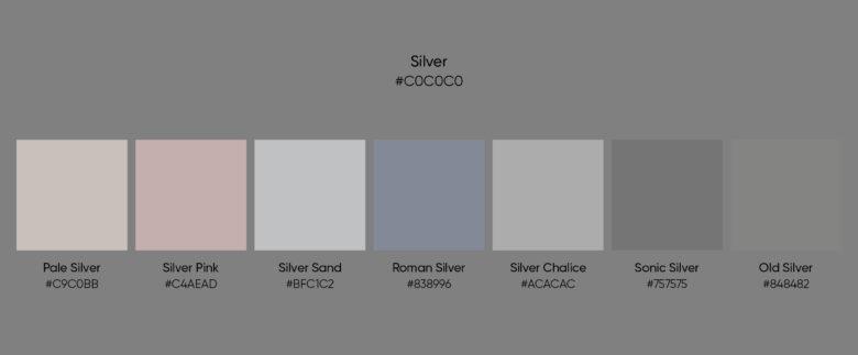 silver color similar colors