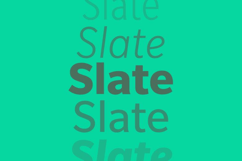 Slate font Helvetica alternative