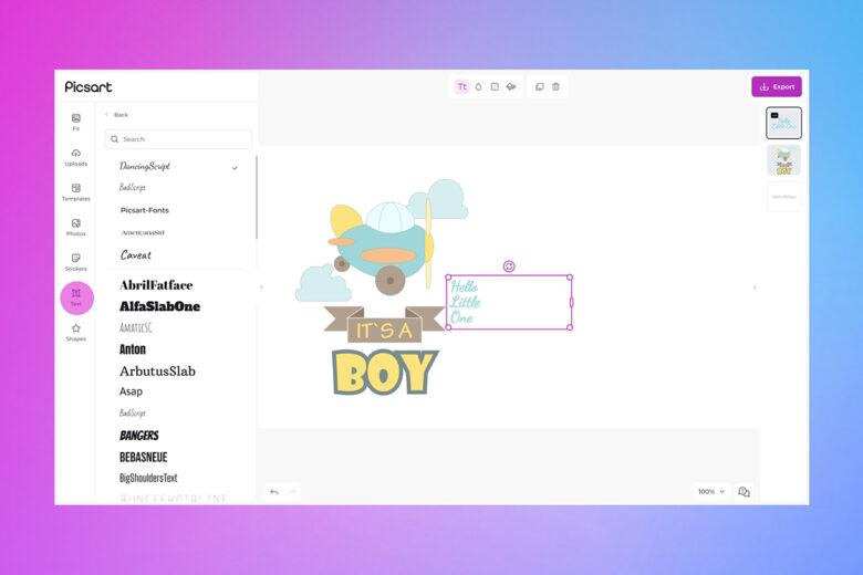 card desktop text