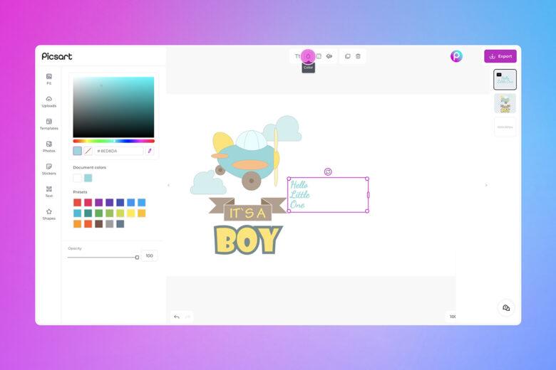 card desktop editing