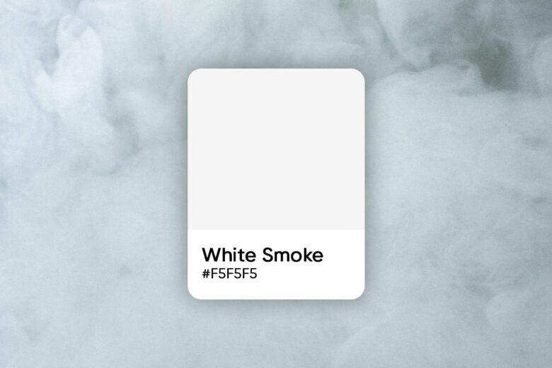 white smoke color