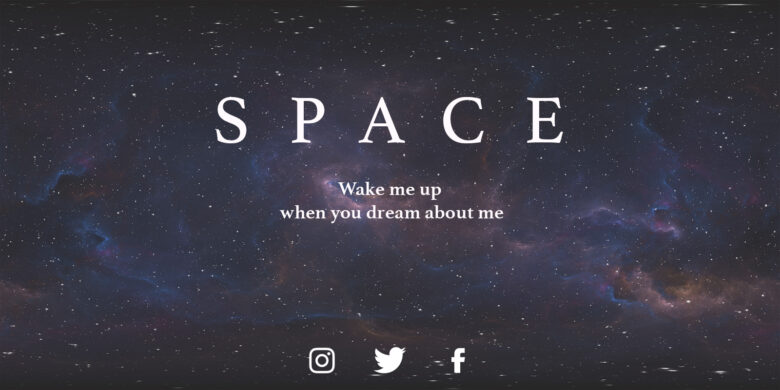 Twitch Banner Space Theme